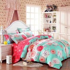 SAYM Home Bedding Sets Elegant Rural Style Print Set For Lovely Teen Girls 100% Polyester Fiber Duvet Cover