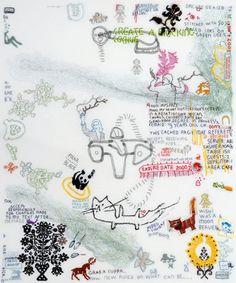 Tilleke Schwarz - Poetry Embroidery - Bird & Prey