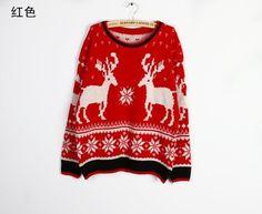 fall/winter 2013-new Korean version of loose vintage deer sweater Korean version of loose sweaters [#118]