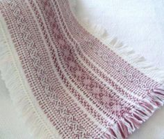 Sandra's Stitches design table runner. Swedish Weaving on Monk's cloth