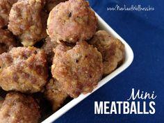 Mini meatball recipe