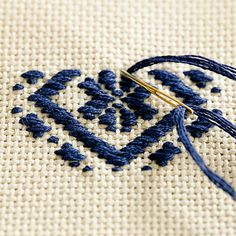 Japanese kogin embroidery