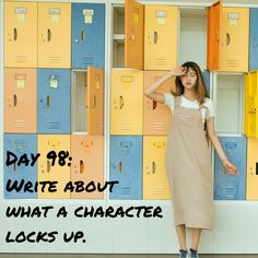 "Day 98 of 365 Days of Writing Prompts: Write about what a character locks up. Shannon: ""I thought you said she had her most prized possessions in this safe. This is just a bunch of crap,"" Dean thre…"
