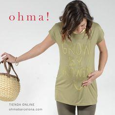 "www.ohmabarcelona.com ""Grow by growing up"" #embarazada #embarazo #ropaembarazada #ropapremama #premama #pregnancy #pregnant #maternitywear #maternitystyle #summer #verano #rebajas #mensajes #maternidad #ohmabarcelona  Ref.525510"