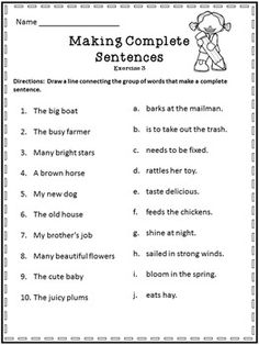 sentences and fragments worksheets kidz activities. Black Bedroom Furniture Sets. Home Design Ideas