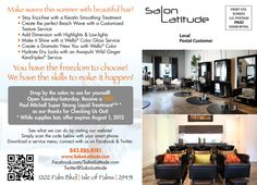 Summer promotion at www.salonlatitude.com