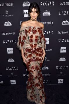 Kendall Jenner in Marchesa See All the Best Red Carpet Looks from This Year's Epic Bazaar Icons Party