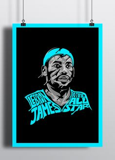 LeBron James illustrations created by designer Russell Pritchard