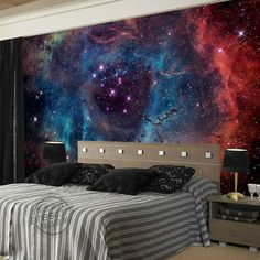 Gorgeous Galaxy Wallpaper Nebula Photo wallpaper Custom 3D Wall Murals Children Bedroom Shop Art Wedding Room decor Starry Night