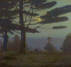 """Midsummer Night,"" Charles Warren Eaton, 1900-10, oil on canvas, 28 x 30"", Spanierman Gallery."