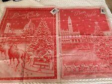 Le Telerie Toscane Towels Christmas Buon Natale New Set Of 2