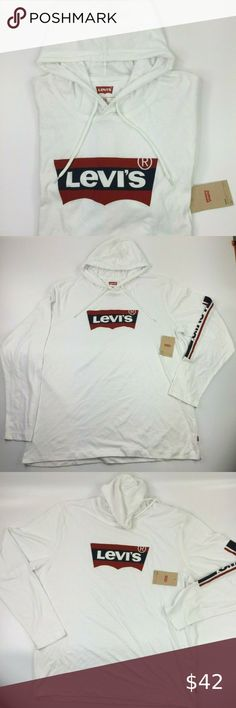 NWT Levi/'s Size 2XL Mens Evans Hoodie LOG0 Graphic Hooded Pullover Top *MSRP $42