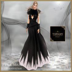 TD Blacky Ada Mesh Gown
