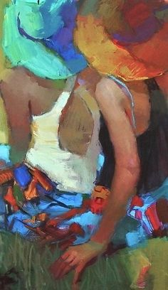 Michael Steinagle happy painterly colors in hats and ingenuitive minimal fabric manipulation Painting People, Figure Painting, Painting & Drawing, Guache, Portrait Art, Portraits, Anime Comics, Face Art, Figurative Art