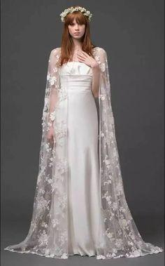2015 Wedding Dresses, Bridal Dresses, Wedding Gowns, Wedding Dress Cape, Tulle Wedding, Boho Chic, Amazing Wedding Dress, Unique Wedding Dress, Woodland Wedding Dress