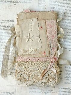 MIXED MEDIA FABRIC COLLAGE BOOK OF PINK PRINCESS | eBay