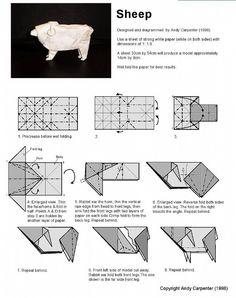 Cute sheep illustration origami tutorial