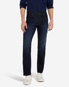 Salopette Jeans Vintage da Uomo Denim Blu Marino Stile Casual a Taglio Dritto blu marino