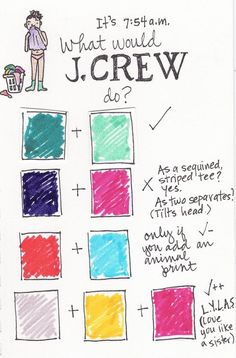 Crew tells you how to color block. Sisk haha this reminded me of you for some reason. Zuhair Murad, Marchesa, Kendra Scott, Lilly Pulitzer, Tory Burch, Fashion Beauty, Fashion Tips, Fashion Models, Women's Fashion