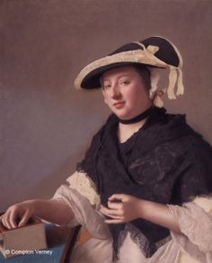 Jean-Etienne Liotard (1702-1789)  Portrait of a Woman called Lady Fawkener  circa 1760
