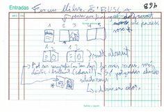 """Apunte. Projecte: Llibre d'artista 004   Apunte  """"Projecte: Llibre d'artista 004""""  Proyecto: Libro de artista 004  Bolígrafo sobre papel  105 x 153 cm  2004  Bilbao  apunte: libro de artista libro 2004-01 / 2004-06"""