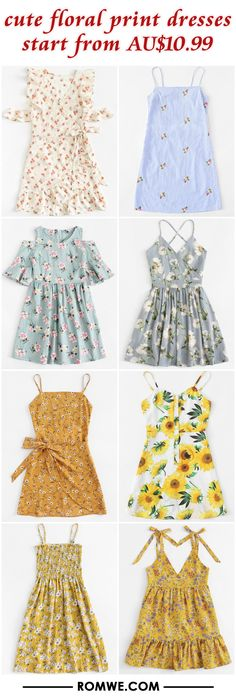 cute floral print dresses from AU$10.99