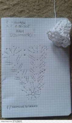 Pokračovanie skúšobných zvončekov amatérsky popis - Her Crochet Crochet Snowflake Pattern, Crochet Flower Tutorial, Crochet Diy, Crochet Motifs, Crochet Snowflakes, Crochet Diagram, Crochet Gifts, Crochet Flowers, Crochet Christmas Decorations