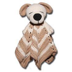 Baby Knitting Patterns Blanket Cuddle cloth dog or bear Crochet Security Blanket, Crochet Lovey, Lovey Blanket, Baby Blanket Crochet, Crochet Dolls, Free Crochet, Baby Knitting Patterns, Crochet Blanket Patterns, Baby Lovey