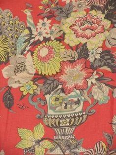 Radcliffe Red - www.BeautifulFabric.com - upholstery/drapery fabric - decorator/designer fabric