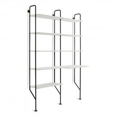 Hitch Bookcase And Desk White Black New Place Pinterest Ladder Desks