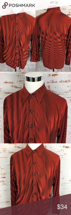Positano Club shirt m vintage Comb Over Haircut, Disco Club, Disco Shirt, Club Shirts, Positano, Red Black, Casual Button Down Shirts, Men Sweater, Man Shop