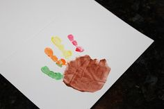 Activities for Active Babies, Toddlers, and Kids: Thanksgiving Cards