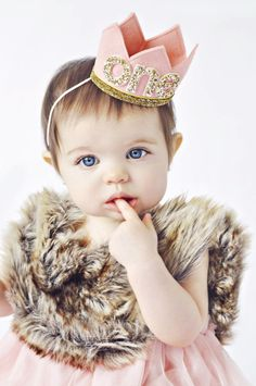 Birthday Crown of Felt and Glitter // by PreshToastCrowns on Etsy