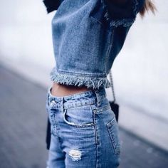 Blouse: frayed denim, nastygal, frayed top, top, t-shirt, blue, navy, denim, frayed, ripped, fray, fraying, spring, fall outfits, indie, happily grey, blogger, shoes - Wheretoget