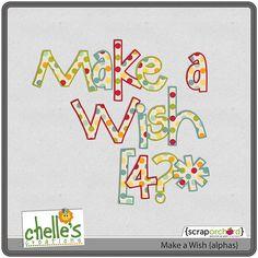 make a wish alphabet freebie