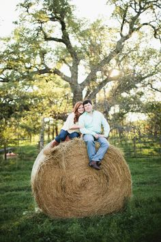 Hay bale engagements!