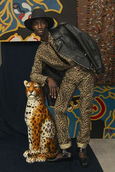 """Origines"" fabric from Pierre Frey In WAD mag. SERIES / AMERYKAH SHOT BY VALENTIN CHENAILLE Styling Glen Mban- Art direction Pierre Bréjoux – Make-up Delphine Premoli"