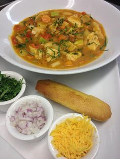Chicken chili loaded with fresh veggies from the farmers market. Who is ready to dig in?