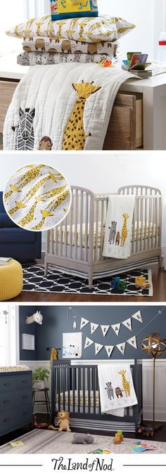A giraffe themed nursery shouldn't be a tall order. That's why we plenty of giraffe décor for any girls bedroom or boys bedroom.