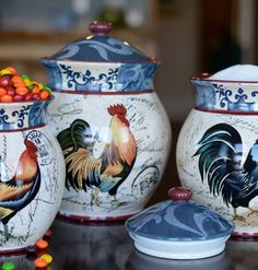 Lille Rooster Canister Set
