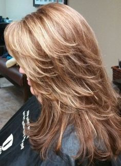 layered hair Best Ideas About Stylish Layered Hairstyles in 2020 : Page 21 of 35 : Creative Vision Design Long Layered Haircuts, Haircuts For Long Hair, Long Hair Cuts, Medium Layered Hairstyles, Long Shag Hairstyles, Feathered Hairstyles, Choppy Layers For Long Hair, Long Layered Cuts, Party Hairstyles