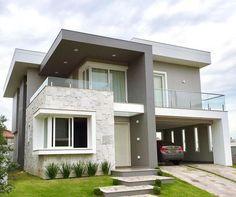 Best Modern House Design, Modern Exterior House Designs, Bungalow House Design, House Paint Exterior, Dream House Exterior, Modern Home Exteriors, Small Modern Home, Modern Design, Modern House Facades