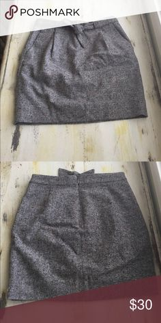 Jcrew wool(ish) skirt Super cute yet comfy J.Crew skirt. Only worn once J. Crew Skirts Pencil