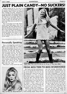 Ewa Aulin - Teen Magazine - February, 1967