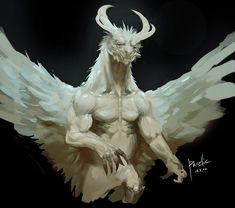 Four horned angel by Pacelic.deviantart.com on @deviantART