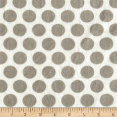 Minky Cuddle Classic Mod Dot Silver/White from @fabricdotcom  This minky fabric has an extremely soft 3mm pile that's perfect for apparel, blankets, throws, pillows and stuffed animals.