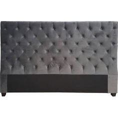Darby Home Co Abbot Bridge Decorative Glam Upholstered Headboard Size: King, Upholstery: Dark Grey