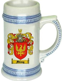 Strong Coat of Arms / Family Crest stein mug - $21.99