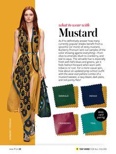 Green hair + mustard dress
