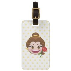 Beauty and the Beast Emoji Tag Photo, Custom Luggage Tags, Cute Beauty, Luggage Straps, Standard Business Card Size, Leather Luggage, Card Sizes, Beauty And The Beast, Bag Tag